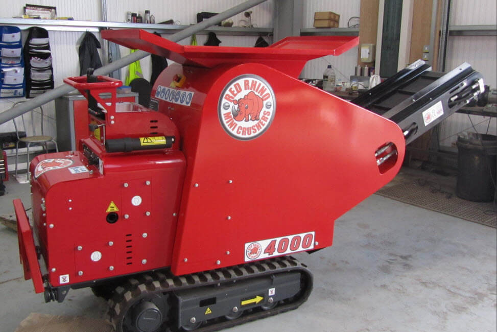 red rhino crusher hire london